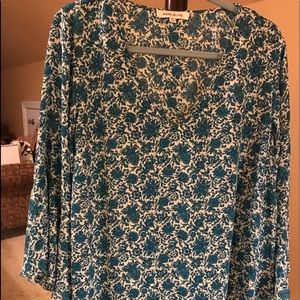 Rose & Olive Pullover Blouse 2X